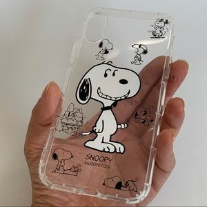 iPhone X XS cheeky smile snoopy clear tpu case